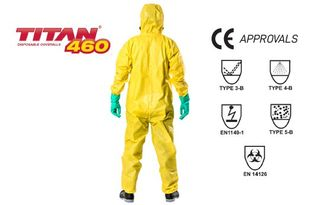 TITAN' '460' Chemical Protection Suit Type 3/4/5 - Esko
