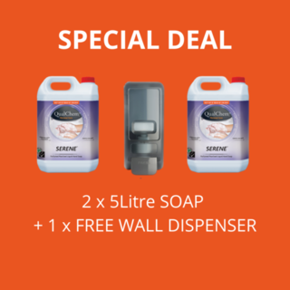 Serene Liquid Soap 5L x 2 + free Dispenser