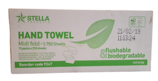 Flushable Paper towels - Stella - CLEARANCE