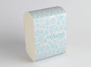 Half wipe Slimfold paper towels - Coastal