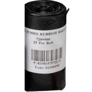 70L Black Bin Liner on Roll - Premier Hygiene