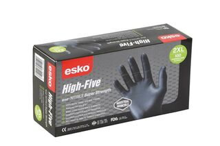 Nitrile Gloves Black PowderFree - High Five - Esko