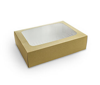 Platter box with insert - Small 31x22.5x8.2cm - Vegware