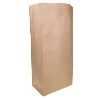 Brown Block Bottom Paper Bag No 5 Heavy Duty 205W x 445H (125mm gusset) - UniPak