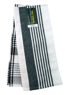 Tea Towel Woven Cotton Royal Black - Filta