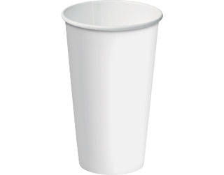 16oz White Single Wall Paper Hot Cup w/Classic Lid - Castaway