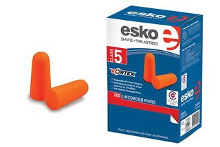 Vortex Disposable Un-corded Earplugs, Class 5 (200 pairs) Orange - Esko
