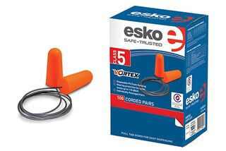 Vortex Disposable Corded Earplugs, Class 5 (100 Pairs) Orange - Esko