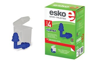 Vortex Reusable Un-corded Earplugs (50 pairs) BLUE - Esko