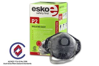 BREATHE EASY' P2 Dust Valved Mask with Active Carbon Filter - Esko