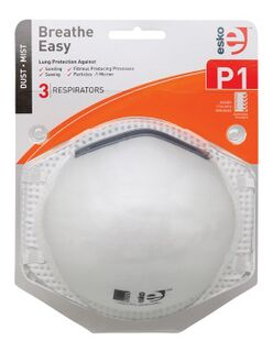 BREATHE EASY' P1 Respirator Non Valved 3 Pack - Esko