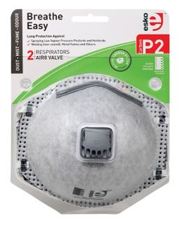 BREATHE EASY' P2 Respirator with Valve & Carbon Filter - Esko