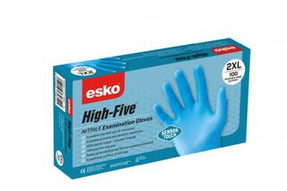 HIGH FIVE Sensortouch Light Blue Disposable Nitrile Glove - Esko