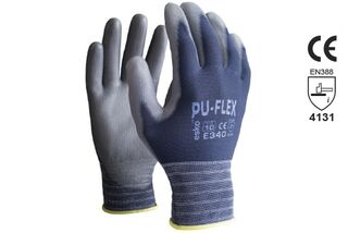 PU-FLEX' Blue Polyurethane Palm on Nylon Liner - Esko