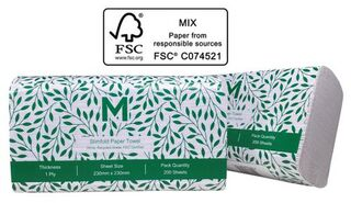 Slimfold Paper Towel - White Recycled , 1 Ply - Matthews