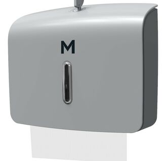 Slimfold Towel Dispenser - Silver, 300 Sheet Capacity  - Matthews
