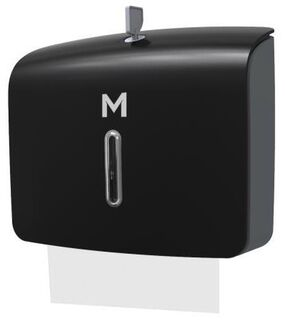 Slimfold Towel Dispenser - Black, 300 Sheet Capacity  - Matthews