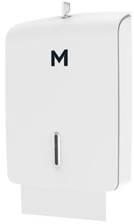 Tall Slimfold Towel Dispenser - White, 500 Sheet Capacity  - Matthews