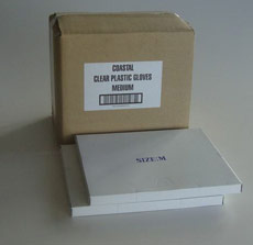 Plastic Gloves Clear HDPE - Coastal