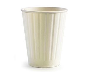 12oz Coffee Cup White (90mm) Double Wall - BioPak