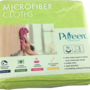 Microfibre Cloth 40x40cm Green - PureEn