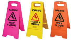 Gala Heavy Duty Safety Sign - Wet Floor Orange