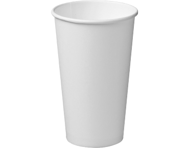 16oz White Single Wall Paper Hot Cup