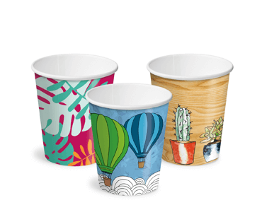 8oz Creative Collection Classic Single Wall Paper Hot Cup w/Classic Lid - Castaway