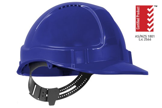 TUFF-NUT' Vented PinLock Hard Hat, BLUE - Esko