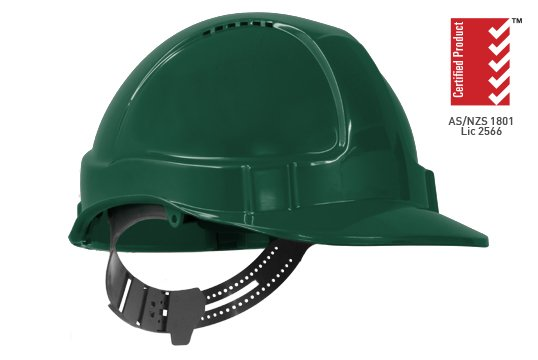 TUFF-NUT' Vented PinLock Hard Hat, GREEN - Esko
