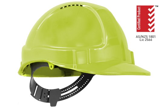 TUFF-NUT' Vented PinLock Hard Hat, NEON YELLOW - Esko