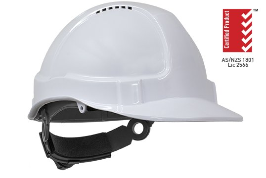 TUFF-NUT' Ratchet  Vented Hard Hat, WHITE - Esko