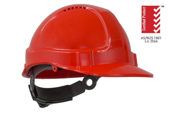 TUFF-NUT' Ratchet  Vented Hard Hat, NEON ORANGE - Esko