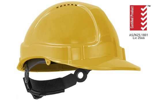 TUFF-NUT' Ratchet  Vented Hard Hat, YELLOW - Esko