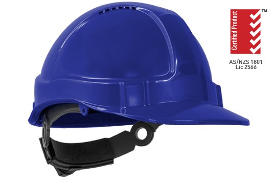 TUFF-NUT' Ratchet  Vented Hard Hat, BLUE - Esko