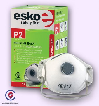 BREATHE EASY' P2 Dust Valved Mask - Esko