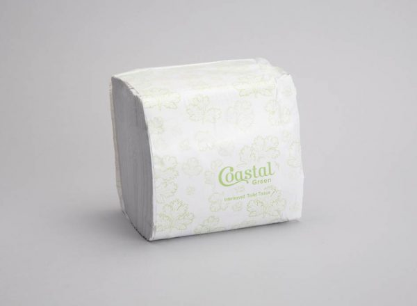 Interleaf Toilet Tissue Recycled 2ply - Coastal brand
