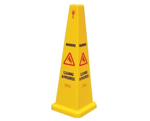 Gala Safety Cone - Cleaning In Progress Yellow 900mm
