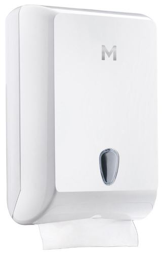 Interfold Towel Dispenser - White, 700 Sheet Capacity  - Matthews