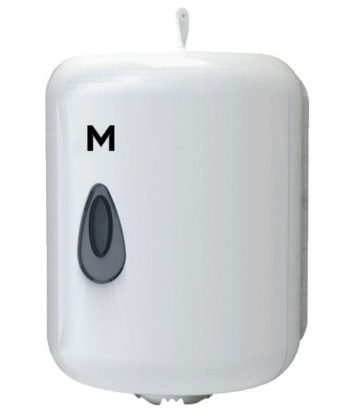 Centre Feed Towel Dispenser - White, 1 Roll Capacity  - Matthews